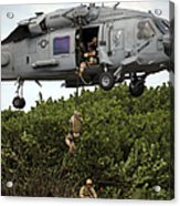 Military Reserve Navy Seals Demonstrate Acrylic Print by Michael Wood