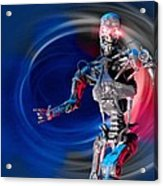 Military Robot, Artwork Acrylic Print by Victor Habbick Visions