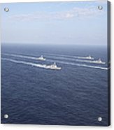 Military Ships Transit The Philippine Acrylic Print