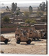 Military Vehicles Parked Outside Loy Acrylic Print