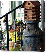 Milkcan And Birdhouse Acrylic Print