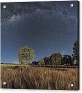 Milky Way Over Parkes Observatory Acrylic Print