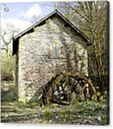 Mill And Water-wheel Near Ashford-in-the-water Acrylic Print