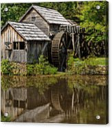 Mill Pond Reflection Acrylic Print