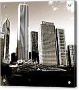 Millenium Park Skyscrapers Acrylic Print