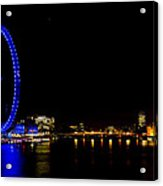 Millenium Wheel And London Night View  Acrylic Print