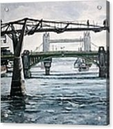 Millennium Bridge London Acrylic Print