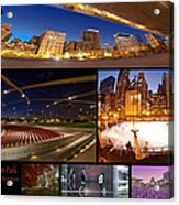 Millennium Park Photo Collage Acrylic Print