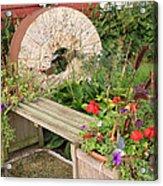 Milling Stone Flower Garden Acrylic Print