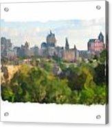 Milwaukee From Resevoir Park Acrylic Print