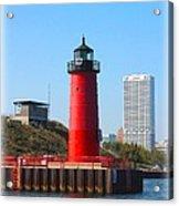 Milwaukee Harbor Lighthouse Acrylic Print