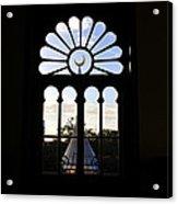 Minaret Through Window Acrylic Print