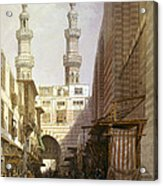 Minarets And Grand Entrance Of The Metwaleys At Cairo Acrylic Print