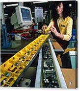 Mindstorm Programmable Lego Brick Manufacture Acrylic Print by Volker Steger