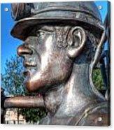 Miner Statue Acrylic Print