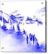 Minimal Landscape Monochrome In Blue 111511 Acrylic Print