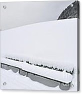 Minimalist Winter Landscape With Lots Of Snow Acrylic Print