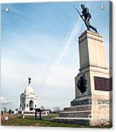 Minnesota Monument At Gettysburg Acrylic Print