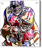 Minnesota Vikings Antoine Winfield  San Francisco 49ers Ted Ginn Jr  Acrylic Print by Jack K