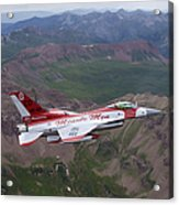 Minute Men Paint Scheme On An F-16 Acrylic Print