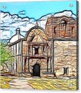 Mission At Tumacacori Fractal Acrylic Print