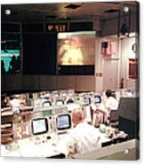 Mission Operations Control Room - Acrylic Print by Everett