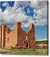 Mission To Quarai New Mexico Acrylic Print by Christine Till