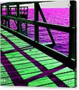 Mississippi  Pier - Ver. 8 Acrylic Print