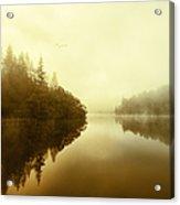 Mist Across The Water Loch Ard Acrylic Print
