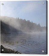 Mist On Lake Acrylic Print