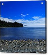 Mist On The Sea At Jordan River Acrylic Print by Louise Heusinkveld