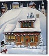 Mistletoe Cottage Acrylic Print