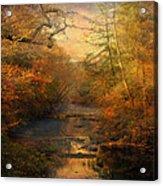 Misty Autumn Morning Acrylic Print