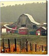 Misty Barn Acrylic Print
