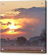 Misty Country Sunrise  Acrylic Print