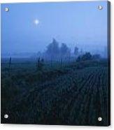 Misty Farm Landscape Acrylic Print