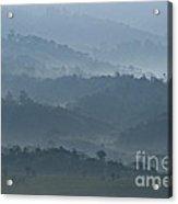 Misty Hills Of Chiriqui Acrylic Print by Heiko Koehrer-Wagner