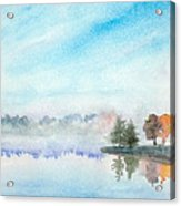 Misty Lake Acrylic Print