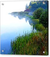 Misty Morning Big Ditch Lake Acrylic Print
