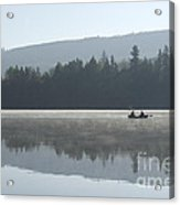 Misty Morning Fishing Acrylic Print