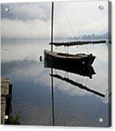 Misty Morning On Lake Bohinj Acrylic Print