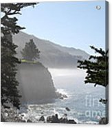 Misty Morning On The Big Sur Coastline Acrylic Print by Camilla Brattemark