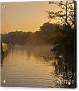 Misty Morning On The Grand Union Canal Acrylic Print