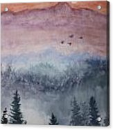 Misty Mountain Acrylic Print by Terri Maddin-Miller