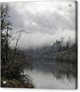Misty River Drive Along The Umpqua Acrylic Print