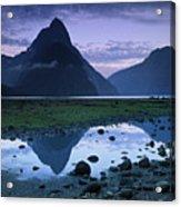 Mitre Peak Acrylic Print by Atan Chua