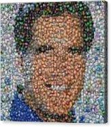 Mitt Romny President Button Mosaic Acrylic Print
