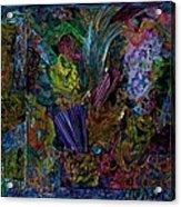 Mixed Media In Blues Acrylic Print