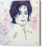 Mj In Sakura Acrylic Print