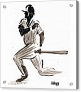 Mlb Base Hit Acrylic Print